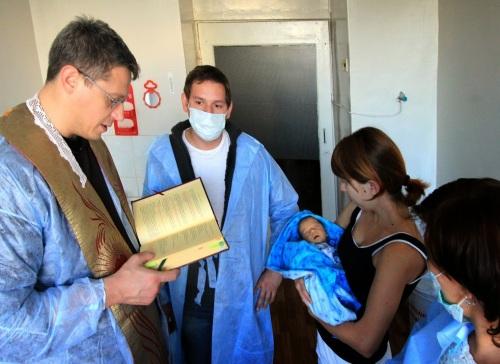 Крещение Федора Лаврова